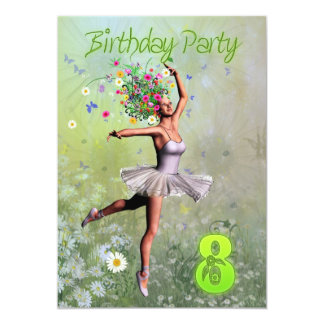 "8th Birthday party invitation 5"" X 7"" Invitation Card"