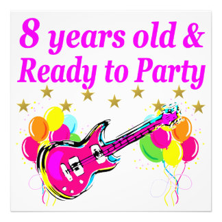 8TH BIRTHDAY ROCK STAR ROCK N ROLL DESIGN PHOTO