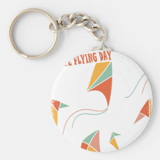 8th February - Kite Flying Day - Appreciation Day Basic Round Button Key Ring