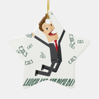 8th February - Laugh And Get Rich Day Ceramic Star Decoration