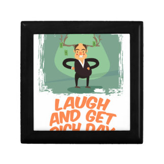 8th February - Laugh And Get Rich Day Small Square Gift Box
