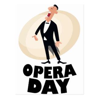 8th February - Opera Day - Appreciation Day Postcard