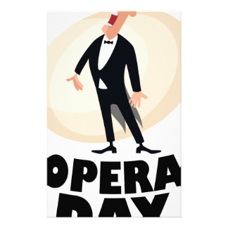 8th February - Opera Day - Appreciation Day Stationery Paper