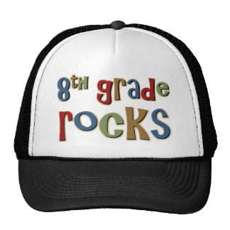 8th Grade Rocks Eighth Trucker Hats
