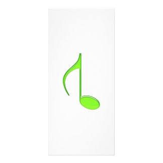 8th Music Note Flipped Lime green Size Grande 2010 Full Colour Rack Card