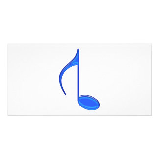 8th Note Created Backwords Royal Blue Large Personalized Photo Card