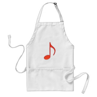 8th Note Large Red Plastic 2010 Adult Apron