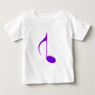 8th Note Reversed Purple Cracked 2010 Large Tshirt