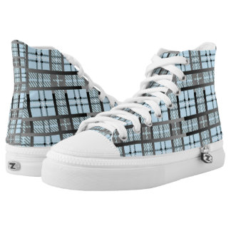 8th Pattern; New Plaid Pattern Printed Shoes