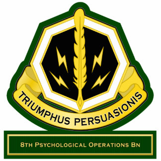 8th Psychological Operations Battalion flash Standing Photo Sculpture