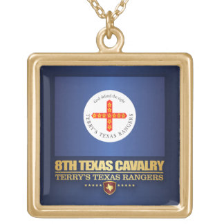 8th Texas Cavalry Gold Plated Necklace