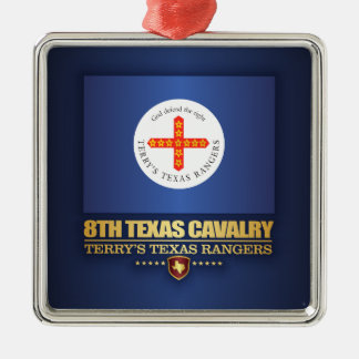 8th Texas Cavalry Metal Ornament