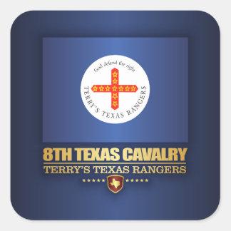 8th Texas Cavalry Square Sticker
