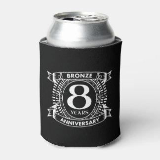 8TH wedding anniversary bronze Can Cooler