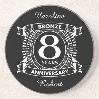 8TH wedding anniversary bronze Coaster
