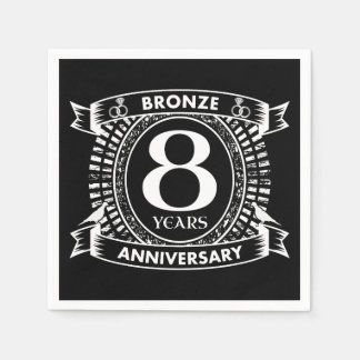 8TH wedding anniversary bronze Disposable Serviette