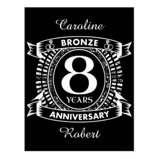 8TH wedding anniversary bronze Postcard