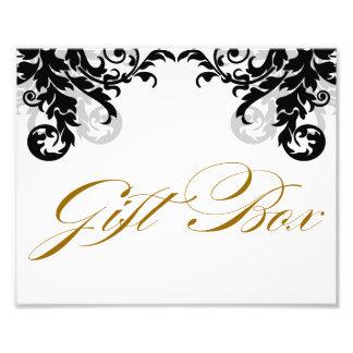 8x10 Flourish Wedding Gift Box Sign for Framing Art Photo