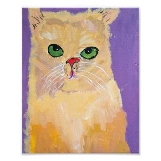 8x10 Ginger Cat Print