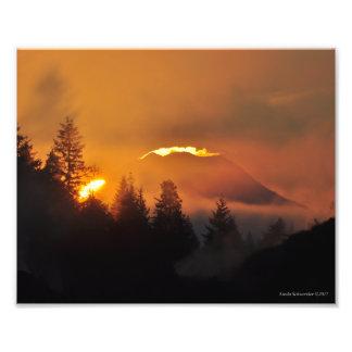 8X10 Mount Rainier at Sunrise Photo Print