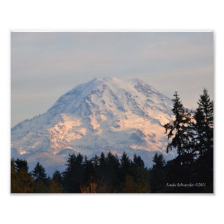 8X10 Mount Rainier from Puyallup, WA Photo Print