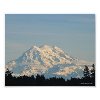 8X10 Mount Rainier Photo Print