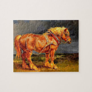 8x10 Photo Horse paintings Puzzle with Gift Box