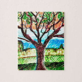 8x10 Photo Puzzle with Gift Box with Tree Art
