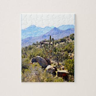 "8X10 Photo ""Saguaro in Mountains"" Photo Puzzle"
