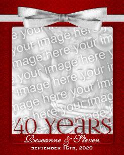 40 Year Wedding Anniversary | Ruby Wedding Anniversary Gifts Zazzle Com Au