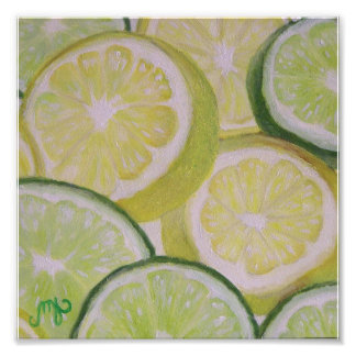 "8x8"" Photo Print - Lemon and Lime Slices"