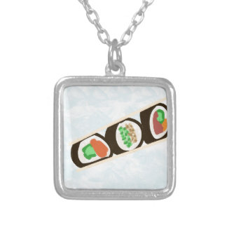 8x8 silver plated necklace