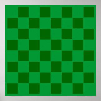 "8x8 Soccer ""Balls"" Checkers TAG Grid Poster"
