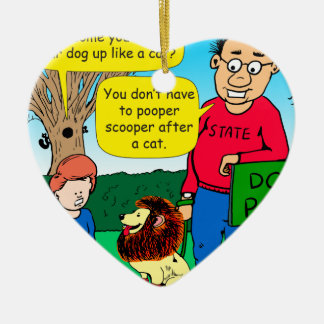 901 Why is dog dressed like a cat cartoon Ceramic Heart Decoration