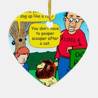 901 Why is dog dressed like a cat cartoon Ceramic Ornament