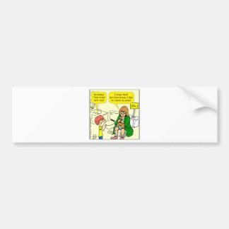 903 Grandma is checking email cartoon Bumper Sticker