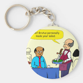 904 Chef Brutus made the salad cartoon Basic Round Button Key Ring