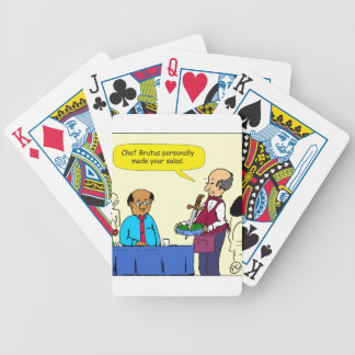 904 Chef Brutus made the salad cartoon Bicycle Playing Cards