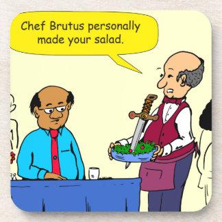 904 Chef Brutus made the salad cartoon Coaster