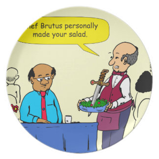 904 Chef Brutus made the salad cartoon Party Plates