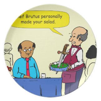 904 Chef Brutus made the salad cartoon Plate
