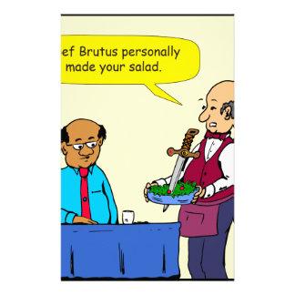 904 Chef Brutus made the salad cartoon Stationery