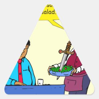 904 Chef Brutus made the salad cartoon Triangle Sticker