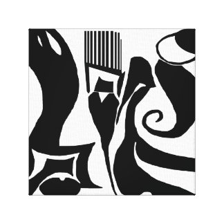 90 Abstract Black & White Canvas Art