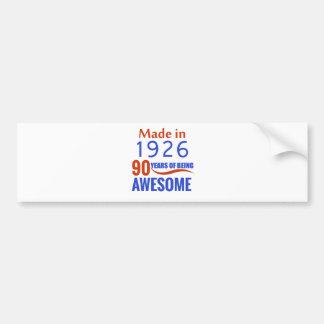 90 birthday design bumper sticker
