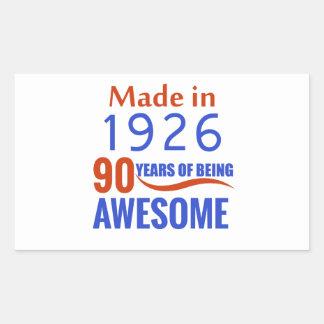 90 birthday design rectangular sticker