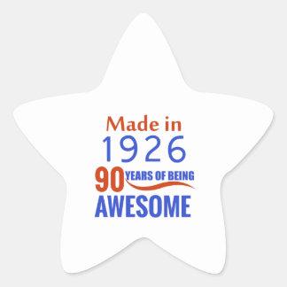 90 birthday design star sticker
