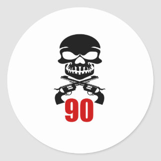 90 Birthday Designs Classic Round Sticker