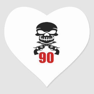 90 Birthday Designs Heart Sticker