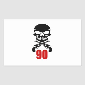 90 Birthday Designs Rectangular Sticker
